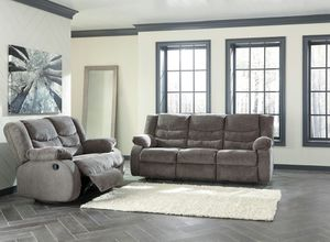 Ashley Furniture Reclining Sofa and Loveseat, Gray for Sale in Garden Grove, CA