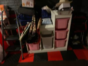 IKEA storage bins with stand for $70 for Sale in Herndon, VA