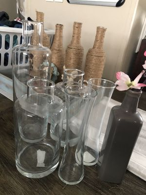 Glass home decor vases and glass plate and bowl all for $25 for Sale in Seagoville, TX
