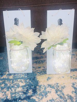 Hanging mason jars (you choose color) for Sale in Gig Harbor, WA