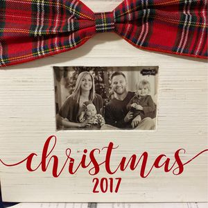 Wooden 2017 Christmas Picture Frame 4x6 Photo for Sale in Massapequa, NY