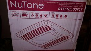 New NuTone QTX Series Very Quiet 110 CFM Ceiling Humidity Sensing Exhaust Bath Fan, Light/Night Light, ENERGY STAR Qualified for Sale in Mesa, AZ