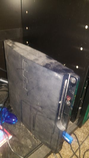 PS3 for sale with 6-8 games and two controllers for Sale in Fresno, CA