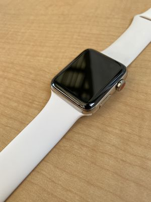42mm stainless steel series 3 Apple Watch $250 for Sale in Sunnyvale, CA