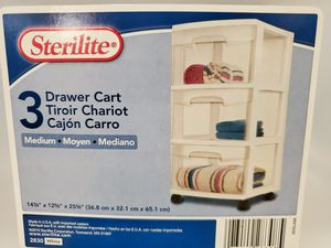 3 drawer plastic cart for Sale in Whittier, CA