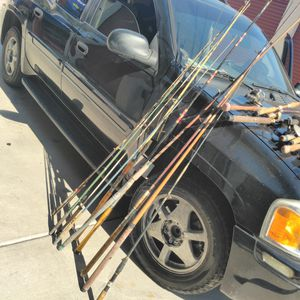 vintage 1940s+ 1970s rods and reels worth close to $1000 for Sale in Rancho Cucamonga, CA