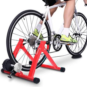 Sportneer Bike Trainer Stand Steel Bicycle Exercise Magnetic Stand with Noise Reduction Wheel, Red for Sale in Ontario, CA