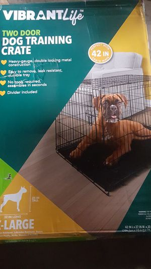 Vibrant life two door dog training crate for Sale in Madison Heights, MI