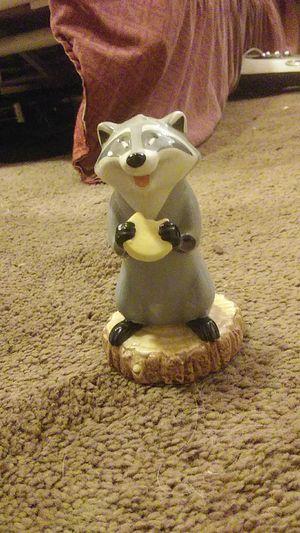 """Meeko"" Raccoon from Disney's Pocahontas Ceramic Figurine for Sale in Lakeside, CA"