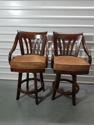 Swivel Bar Stools $35 For both for Sale in Dallas, TX