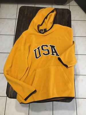 USA OLYMPIC sweatshirt hoodie jumper fleece mustard yellow and black vintage sweater jacket XL for Sale in Bonita, CA