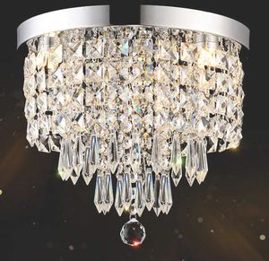 3-Lights Modern Flush Mount Ceiling Crystal Light Fixture, H9.4'' x W9.8'' Mini Modern Chandelier for Sale in Canton, OH