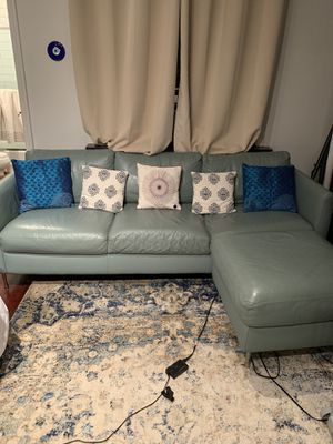 Leather sofa plus ottoman for Sale in New York, NY