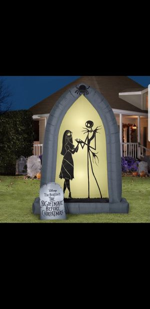 New The Nightmare before Christmas airblown blowup Halloween decoration for Sale in Riverside, CA