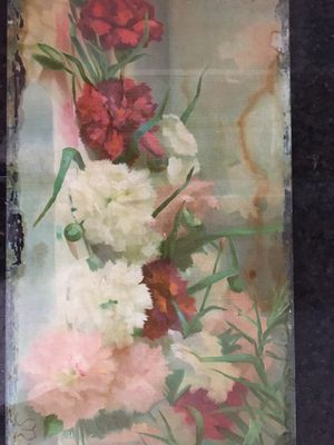 Antique Painting on Glass Signed by Artist for Sale in Houston, TX
