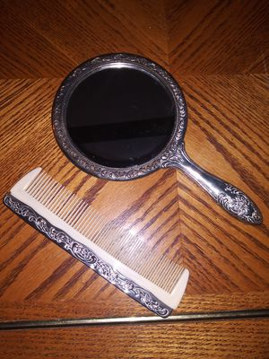 1970s antique silver mirror and comb for Sale in Glen Raven, NC
