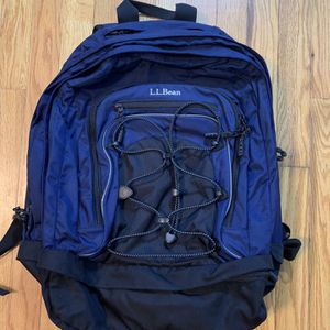 LL Bean Hiking Backpack School Book Bag Navy Blue Turbo Transit Laptop for Sale in Pelham, NH
