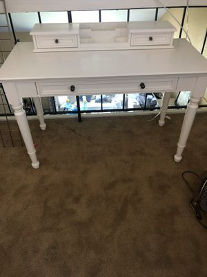 Pottery Barn Chelsea vanity desk with hutch for Sale in Spring Valley, CA