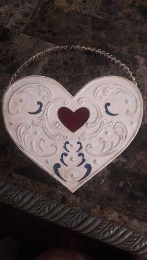 metal heart shaped hanging letter box for Sale in Las Vegas, NV