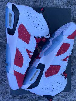"Air Jordan 6 Retro ""Carmine"" 2021 (GS) Size:7y for Sale in Guadalupe,  CA"