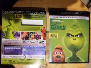 The Grinch 4k combo pack brand new for Sale in Riverside, CA