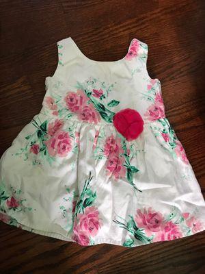 Little girl children place open back dress white w flower for Sale in Bellwood, IL