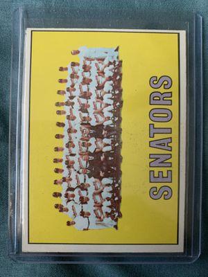 1967 Washington Senators baseball card for Sale in El Paso, TX