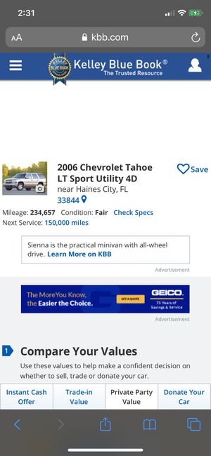 2006 Chevy Tahoe for Sale in Haines City, FL