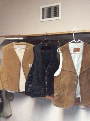 Leather and suede motorcycle vest for Sale in Fullerton, CA