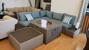 Brand New Patio Furniture Sectional with two end tables tax included and free delivery for Sale in Hayward, CA