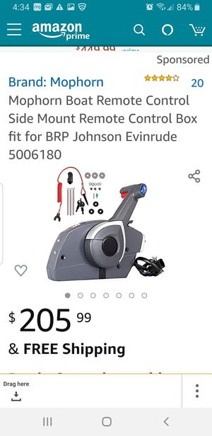 Mophorn boat remote control side mount for Sale in Banning, CA