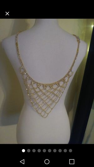 Gorgeous 2 PC Necklace Body Chain Set!! for Sale in Nashville, TN