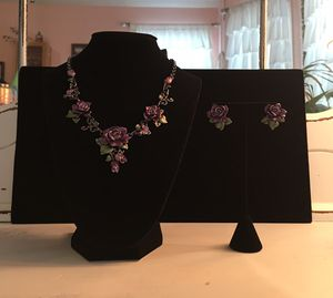Vintage purple rose and butterfly jewelry set for Sale in Jefferson, GA