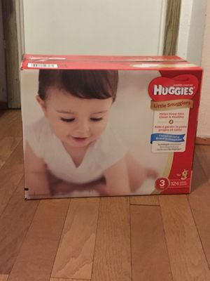 HUGGIES SIZE 3 124 pañales for Sale in Rancho Dominguez, CA