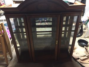 "Free lighted china cabinet with glass shelves. 50"" wide and 54"" tall. Only the china cabinet. for Sale in Woodinville, WA"
