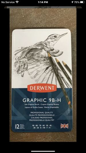 Derwent Graphic 9B-H Soft Graphite Pencils 12 Count for Sale in Tacoma, WA