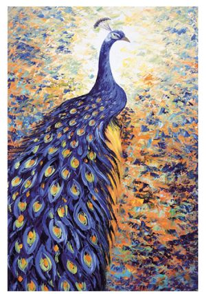 Jigsaw Puzzle 1000 Piece Blue Peacock 50X75cm for Sale in Los Angeles, CA