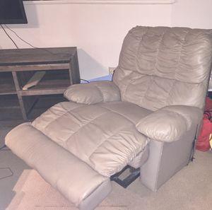 Beige leather recliner for Sale in Denver, CO