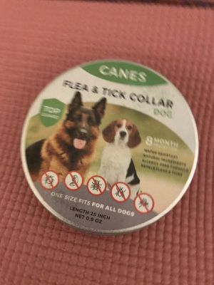 Flea and Tick Prevention for Dogs, Natural and Hypoallergenic Flea and Tick Collar for Dogs, One Size Fits All, 25 inch, 8 Month Protection, Charity for Sale in Fontana, CA