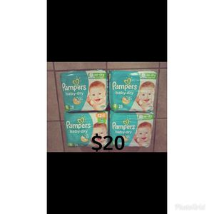 Pampers baby dry size 4. Diapers for Sale in Whittier, CA