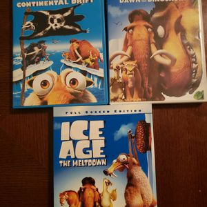 Ice Age 3 Movies All In Excellent Condition for Sale in Visalia, CA