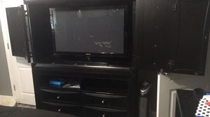 Solid black wood tv stand/armoire for Sale in Slidell, LA