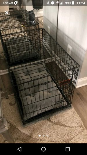Medium Dog Crate Kennel with Dog Bed included for Sale in Alexandria, VA