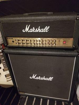"Marshall 2000 AVT150H HYBRID PRETUBE GUITAR AMP & Marshall JCM900 1960Lead 4X12"" 300Watt CAB With Foot Controller for Sale in Rancho Santa Margarita, CA"