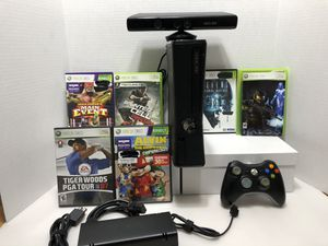 Xbox 360 Slim with Kinect and games for Sale in Orland Park, IL