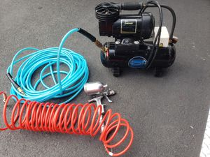 Paasche 30psi air brush compressor with hose and sprayer for Sale in Tacoma, WA