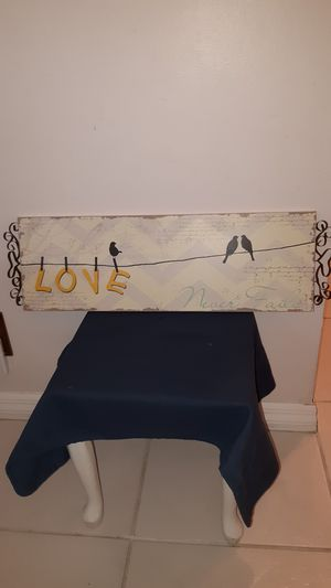 Bird themed wall hanging, Love Never Fails, 27 x 8 for Sale in Plantation, FL