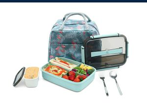 Bento Lunch Box Kit, Leakproof with Large Lunch Bag, Sauce Jar, Utensils NEW ½ PRICE for Sale in Virginia Beach, VA