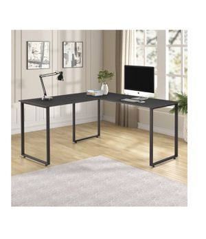 Great condition black L shaped executive desk *disassembled for Sale in Alhambra, CA
