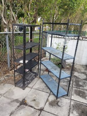 Metal shelves for Sale in Pompano Beach, FL